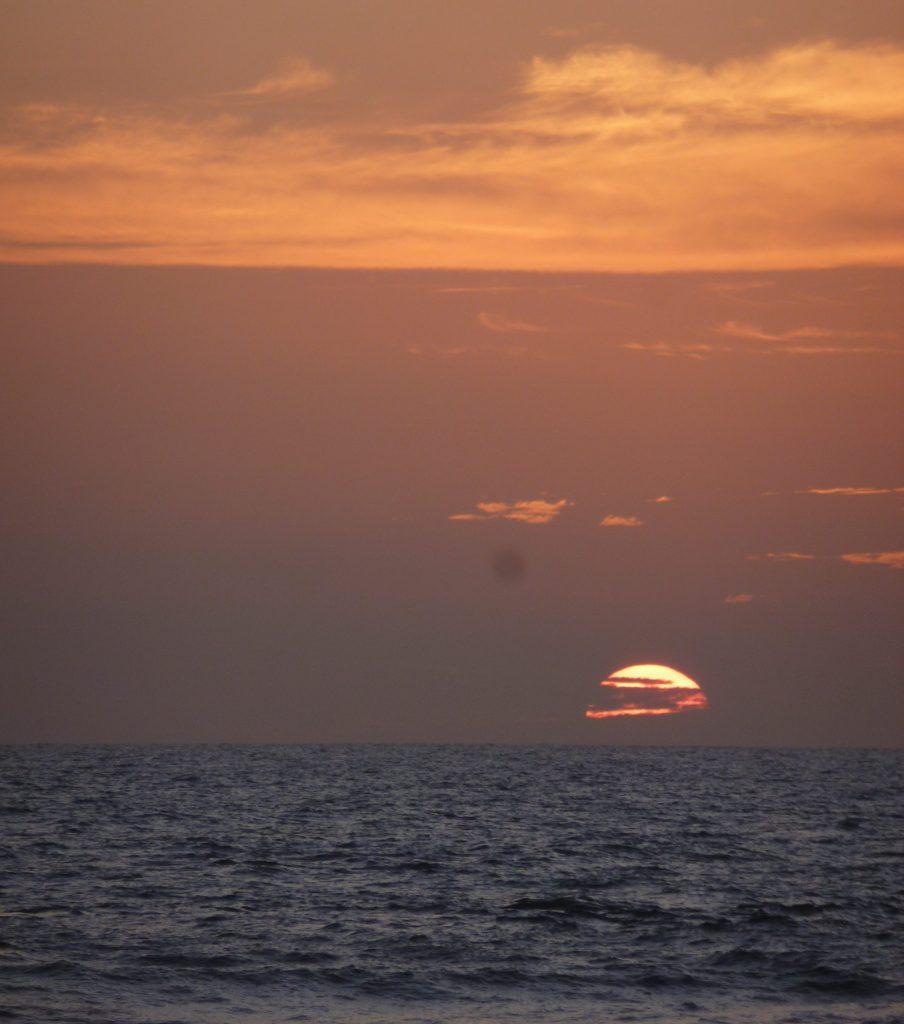 Coucher de soleil à Carpe Diem